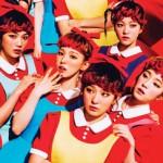 """""""The Red - The 1st Album"""" album cover-art."""