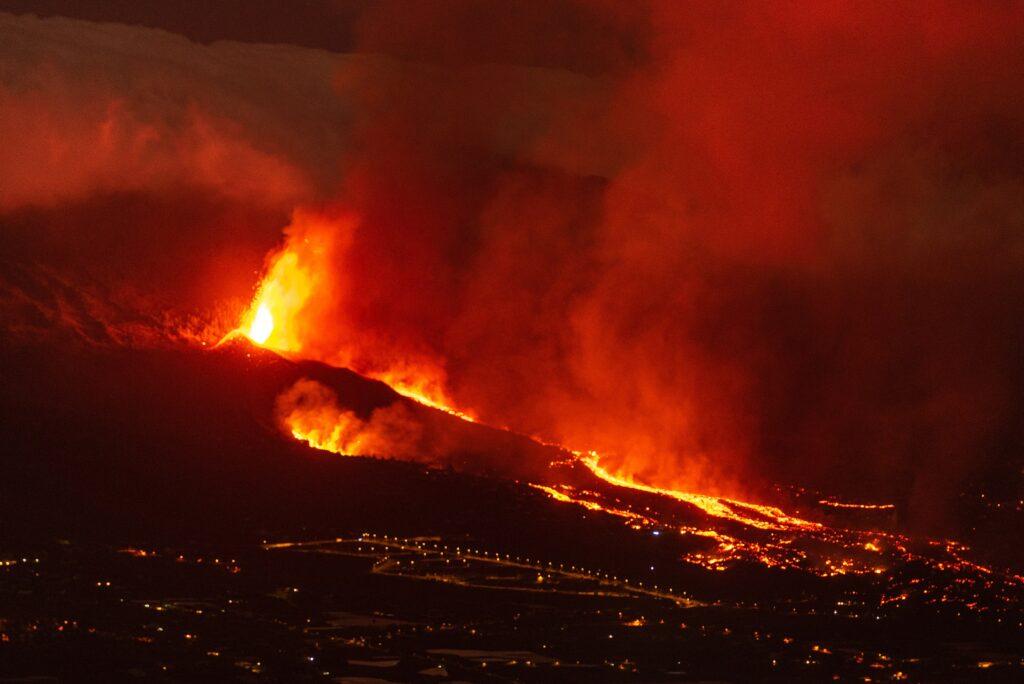 Cumbre Vieja erupting on La Palma Island